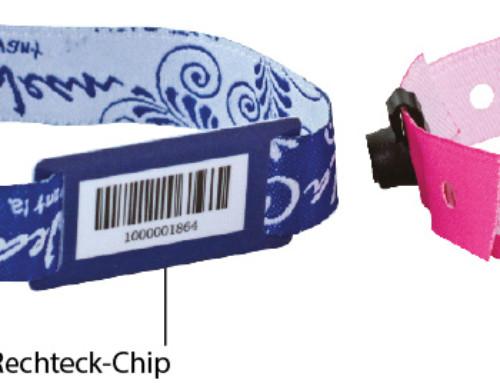 Stoffarmbänder mit Barcode
