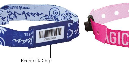 Bild Eintrittsband Stoffarmband Barcode