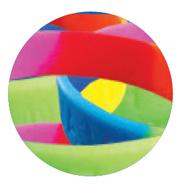 Bild Eintrittsband Silikon mehrfarbiger Hintergrund